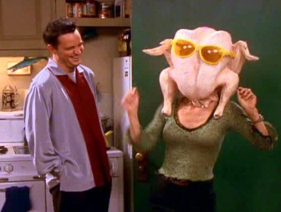 The day Monica from Friends turn up in my local library with a turkey on her head, that would be the best day ever. Photo credits: Warner Bros.