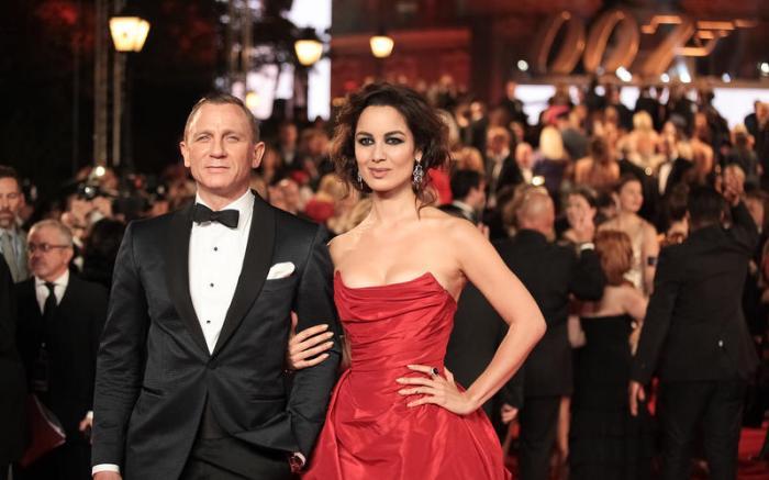 Daniel Craig and Bérénice Marlohe at the Skyfall Premiere. Photo: Christie Goodwin, 2012 (RAH website)