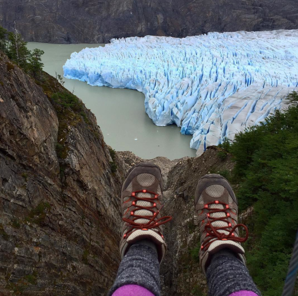 Feet and glacier