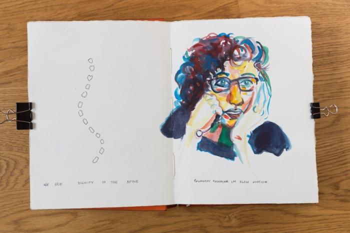 'Thinking Slowly' Sketchbook 2015 blancheellis.com